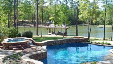 More Decking and Coping Options with Shotcrete Pools